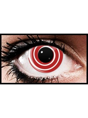 Red Swirl Crazy Coloured Contact Lenses (90 days)