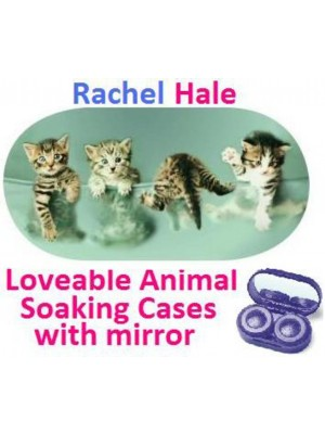 Kittens In a Bowl Rachel Hale Contact Lens Soaking Case