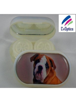 Bull Dog Furry Friends Contact Lens Soaking Case