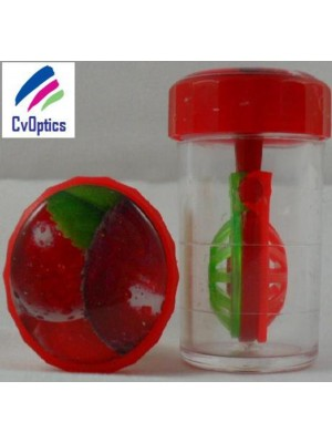 Cherry Fruit Contact Lens Storage Soaking Barrel Case