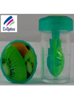 Kiwi Fruit Contact Lens Storage Soaking Barrel Case
