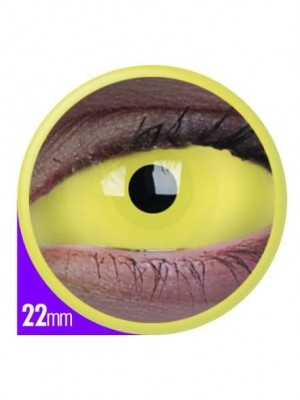 ColourVUE UV Amazon Yellow Sclera Full Eye Contact Lenses 22mm (6 Month)