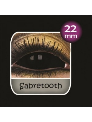 Sabretooth Black Sclera Full Eye Contact Lenses 22mm (6 Month)