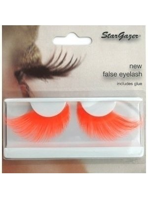 Stargazer Reusable False Eyelashes Bright Neon Orange 69