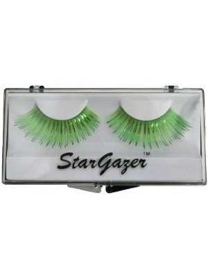 Stargazer Reusable False Eyelashes Bright Green and Foil 7