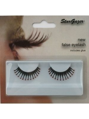 Stargazer Reusable False Eyelashes Black & Red Beads 40