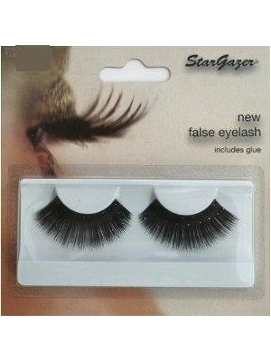 Stargazer Reusable False Eyelashes Black and Diamonte 59