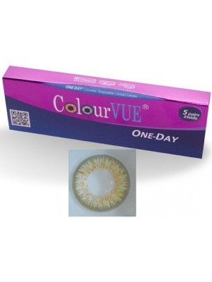 ColourVUE 5 Pairs Of Daily Wear TruBlends Brown Coloured Contact Lenses