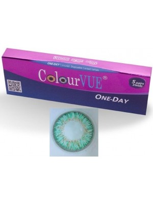 ColourVUE 5 Pairs Of Daily Wear TruBlends Turquoise Coloured Contact Lenses