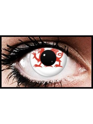 Welsh Dragon Wales Flag Colour Contact Lenses (90 Day)