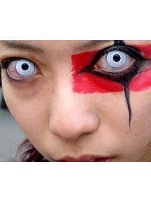 White Block Halloween Coloured Contact Lenses (90 Days)