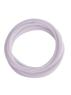 Set Of 12 Plain White Gummy Band Bracelets