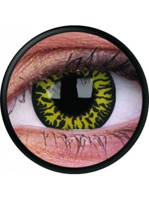 Yellow Eclipse Crazy Colour Contact Lenses (1 Year Wear)
