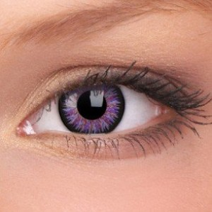 ColourVUE Violet Glamour Coloured Contact Lenses (90 Day)