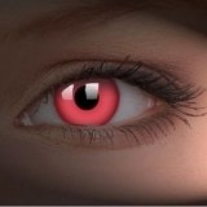 UV Glow Red Crazy Colour Contact Lenses (1 Year)