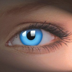 UV Glow Blue Crazy Colour Contact Lenses (1 Year)