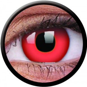 1 Day Use Red Block Coloured Contact Lenses