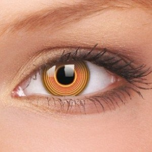 Red Spiral Crazy Colour Contact Lenses (1 Year Wear)