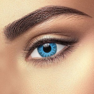 Solar Blue 1 Tone Contact Lenses