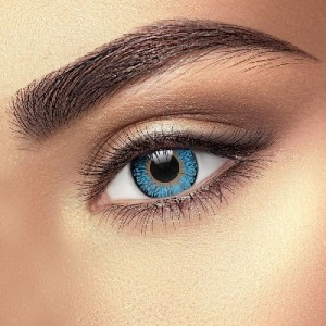 Cool Blue 3 Tone Coloured Contact Lenses