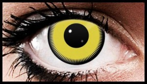 Yellow Fade Crazy Coloured Contact Lenses (90 days)