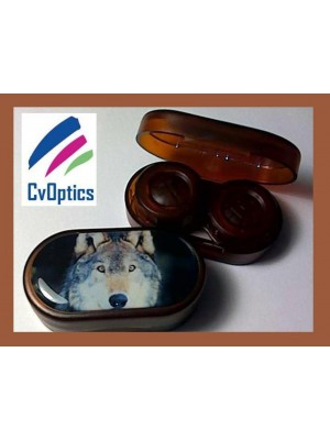 Wolf Endangered Species Contact Lens Soaking Case