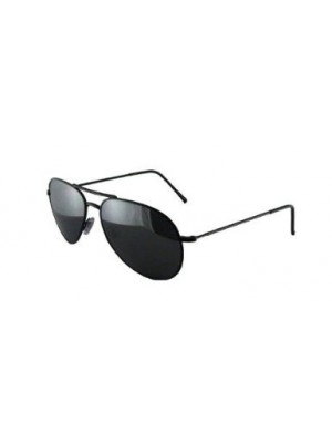 Black Aviator Mirror Sunglasses Shades UV400 Protection