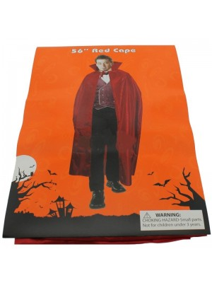 "Adults 56"" Red Cape For Halloween Dracula Look"