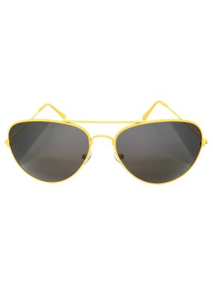 Neon Yellow Aviator Sunglasses One Size Fits All UV400 Protection