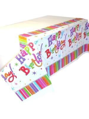 Amscan Plastic Tablecover - Radiant Birthday