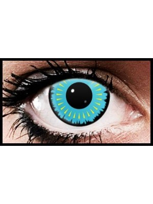 Aqua Burst Crazy Coloured Contact Lenses (90 days)