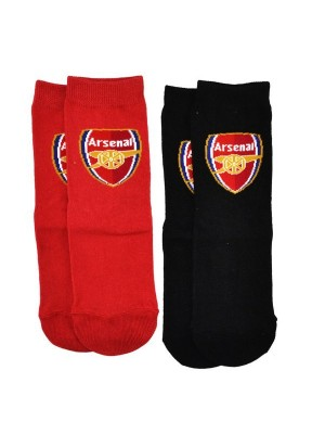 Arsenal 2PK Red And Black Socks (12.5-3.5)