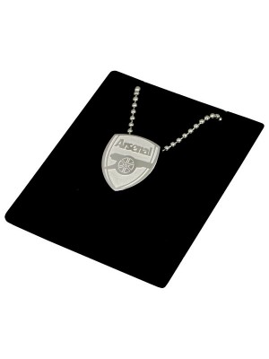 Arsenal Stainless Steel Crest Pendant/Chain