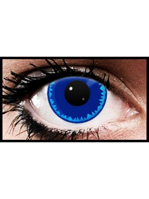 Blue Burst Crazy Coloured Contact Lenses (90 days)