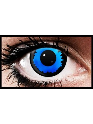 Blue Eclipse Crazy Coloured Contact Lenses (90 Day Lenses)