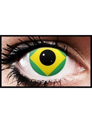 Brazil Flag Colour Contact Lenses (90 Day)