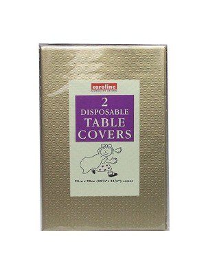 Caroline Square Paper Tablecovers - Gold