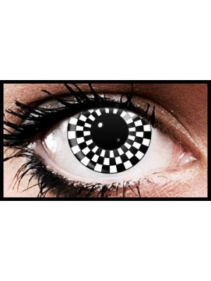 Checkers Crazy Coloured Contact Lenses (90 days)