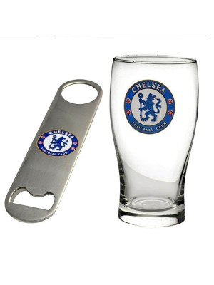 Chelsea Pint Glass & Bottle Opener Set