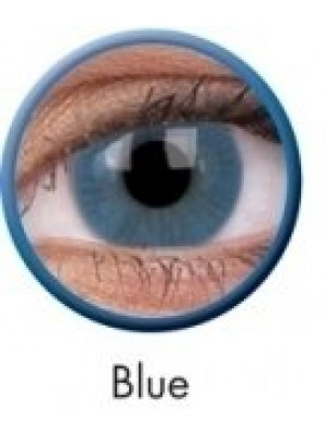ColourVUE Blue Basic Coloured Contact Lenses (90 Day)