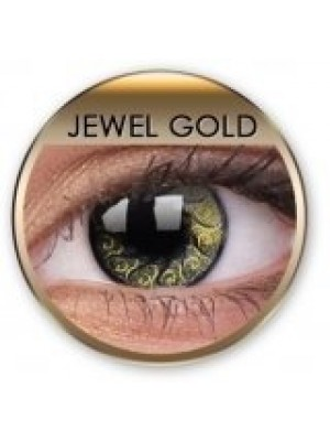 Stars & Jewels Jewel Gold Crazy Coloured Contact Lenses (90 Day)