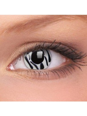 Zebra Crazy Colour Contact Lenses (1 Year)