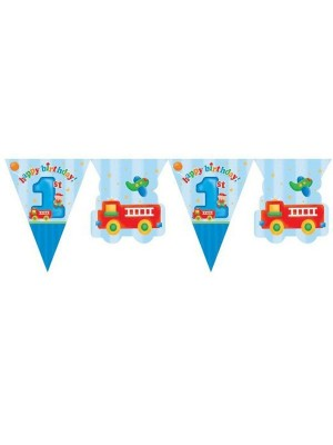 Creative Party 12 Foot Flag Banner - Fun At 1 Boy