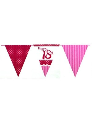 Creative Party 12 Foot Perfectly Pink Bunting - 18th