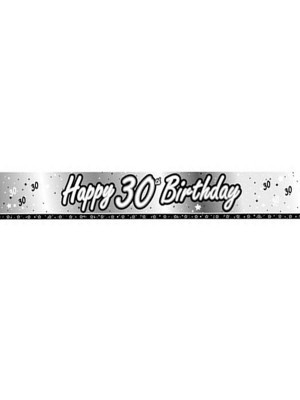 Creative Party 9 Foot Black Foil Banner - 30th