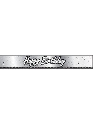 Creative Party 9 Foot Black Foil Banner - Birthday