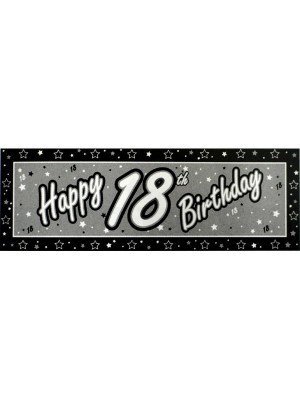Creative Party Black Giant Banner - 18th