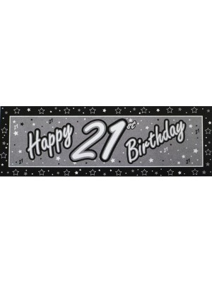 Creative Party Black Giant Banner - 21st