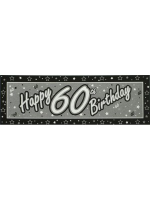 Creative Party Black Giant Banner - 60th
