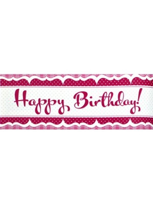 Creative Party Perfectly Pink Giant Banner - Birthday
